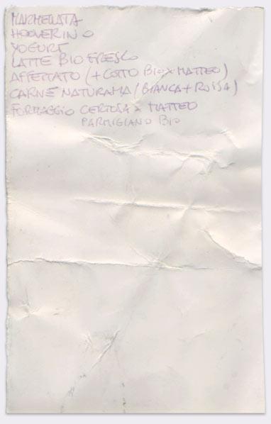 Lista #36 - Penna a sfera su cartoncino lucido
