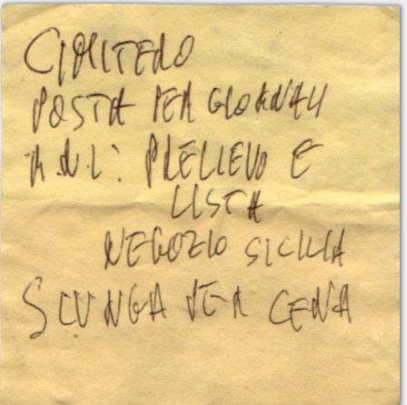 Lista # 49 - Penna a sfera su Post-it