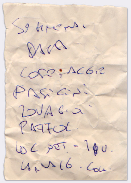 Lista #51 - Penna a sfera su foglietto