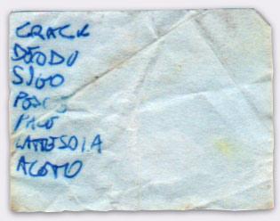 Lista #55 - penna a punta sintetica su ritaglio di foglio
